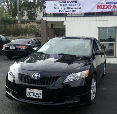2008 TOYOTA CAMRY SE V6 SEDAN black 2-stage unlocking - remote abs - 4-wheel air filtration ai