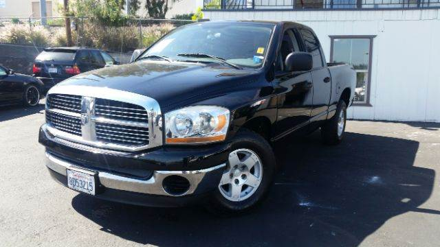2006 DODGE RAM PICKUP 1500 SLT 4DR MEGA CAB SB black abs - 4-wheel airbag deactivation - occupan