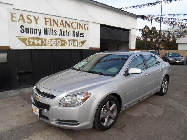 2012 CHEVROLET MALIBU LT 4DR SEDAN W1LT silver 2-stage unlocking - remote abs - 4-wheel airbag