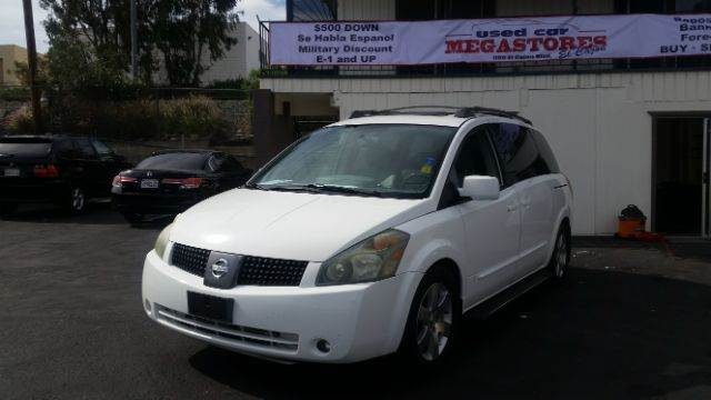 2004 NISSAN QUEST 35 SE 4DR MINIVAN white abs - 4-wheel adjustable pedals - power cd changer