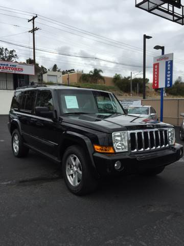 2007 JEEP COMMANDER SPORT 4DR SUV 4WD black 2-stage unlocking - remote 4wd type - full time abs