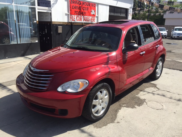2007 CHRYSLER PT CRUISER TOURING 4DR WAGON red 2-stage unlocking - remote airbag deactivation -