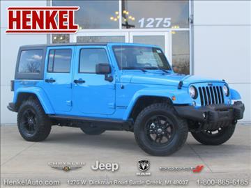 2017 Jeep Wrangler Unlimited for sale in Battle Creek, MI