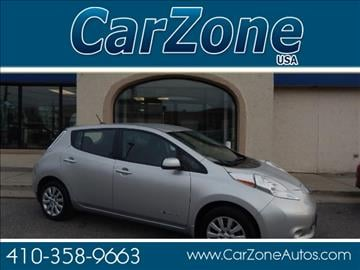 2015 Nissan LEAF for sale in Baltimore, MD