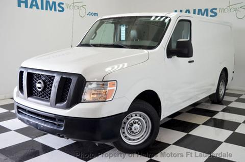 2013 Nissan NV Cargo for sale in Lauderdale Lakes, FL