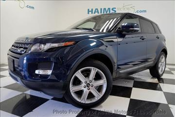2013 Land Rover Range Rover Evoque for sale in Lauderdale Lakes, FL