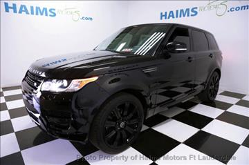 2014 Land Rover Range Rover Sport for sale in Lauderdale Lakes, FL