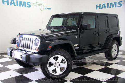 2009 Jeep Wrangler Unlimited for sale in Lauderdale Lakes, FL
