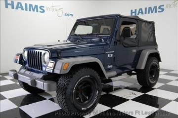 2002 Jeep Wrangler for sale in Lauderdale Lakes, FL