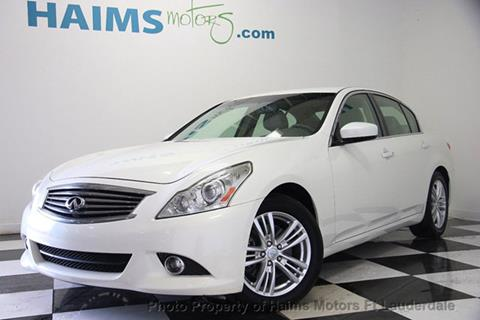 2013 Infiniti G37 Sedan for sale in Lauderdale Lakes, FL