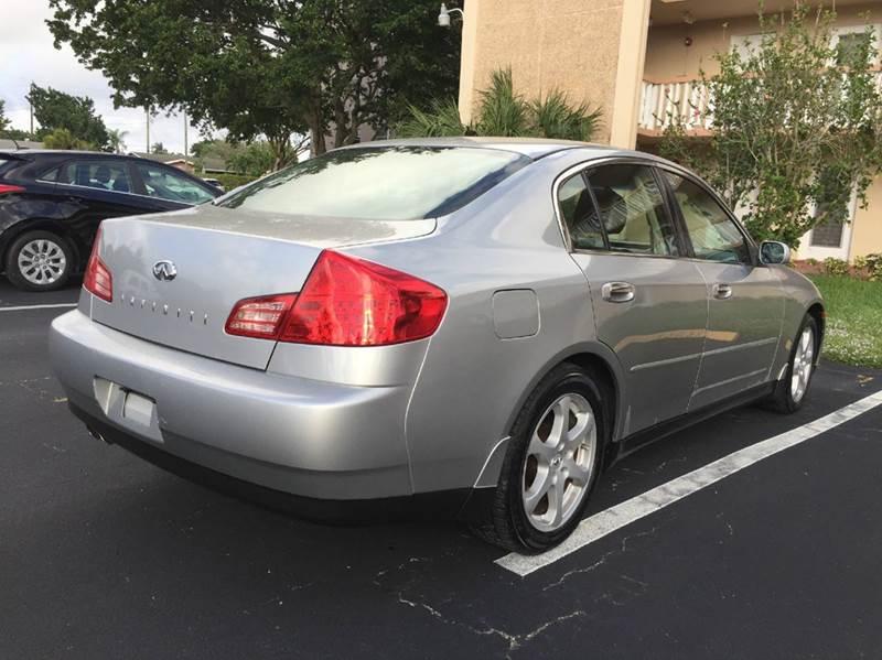 2004 Infiniti G35 Rwd 4dr Sedan w/Leather - Hollywood FL