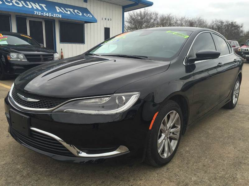 2015 chrysler 200 limited 4dr sedan in houston tx discount auto company. Black Bedroom Furniture Sets. Home Design Ideas