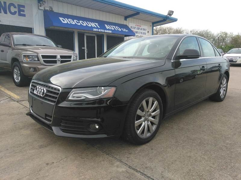 2009 audi a4 2 0t quattro awd premium plus 4dr sedan 6a in houston tx discount auto company. Black Bedroom Furniture Sets. Home Design Ideas