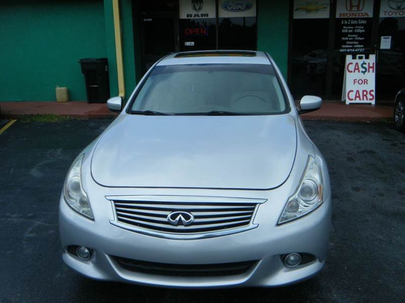 2012 Infiniti G37 Sedan Sport 4dr Sedan In Apopka Fl A To Z Auto Sales