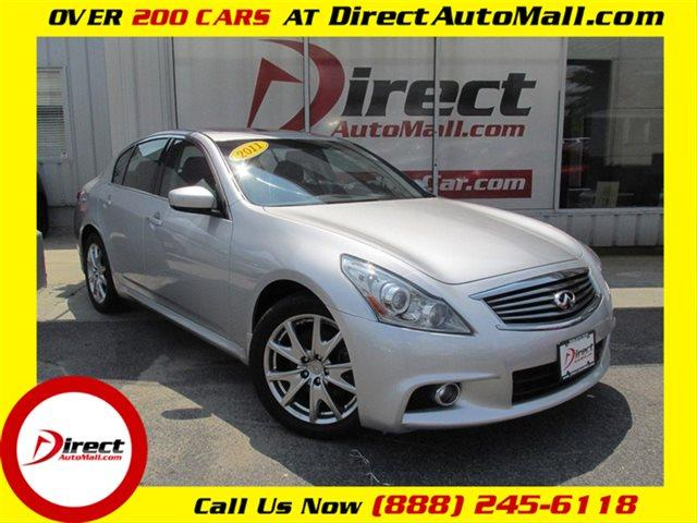 used 2011 infiniti g37 sedan 4dr x awd sedan in framingham ma at direct auto mall. Black Bedroom Furniture Sets. Home Design Ideas