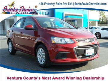 2017 Chevrolet Sonic for sale in Santa Paula, CA