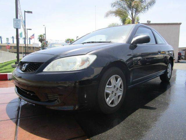 2005 Honda Civic Value Package 2dr Coupe w/ Front Side Airbags - Chula Vista CA