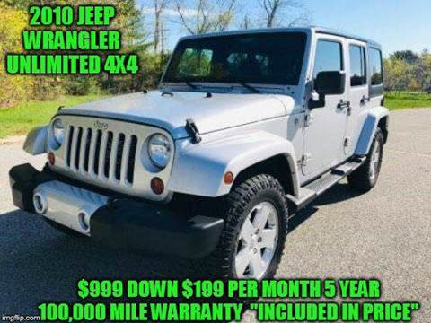 2010 Jeep Wrangler Unlimited for sale in Rowley, MA