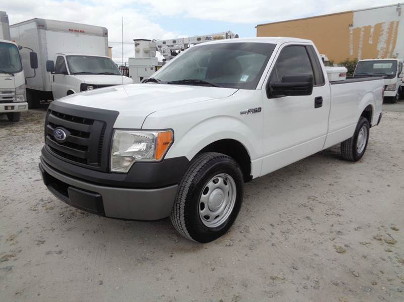 2010 ford f 150 xl regular cab long bed pick up truck in hialeah fl miami truck center. Black Bedroom Furniture Sets. Home Design Ideas