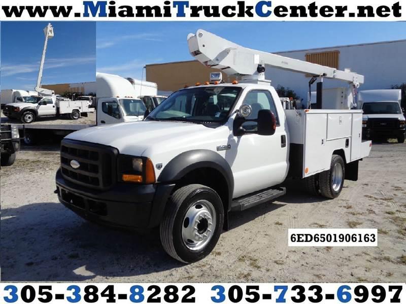 Miami Truck Center >> 2006 Ford F 450 F450 Xl Drw Regular Cab Drw Eti Bucket Boom