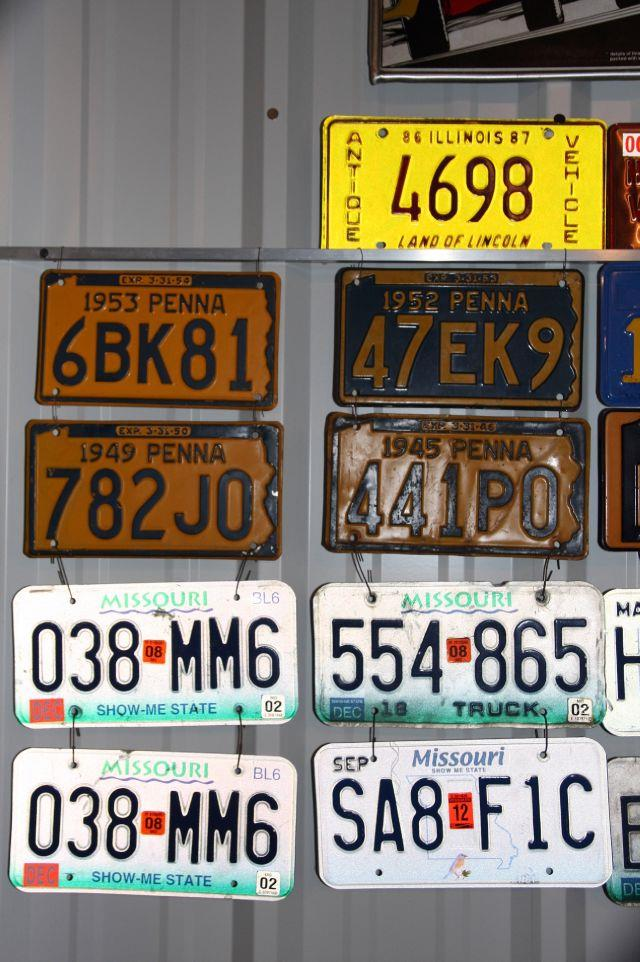 2013 CLASSIC & COLLECTIBLE License Plates  - Fenton MO
