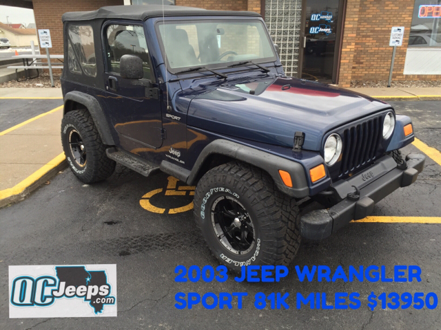 2003 jeep wrangler for sale in indianapolis in. Black Bedroom Furniture Sets. Home Design Ideas