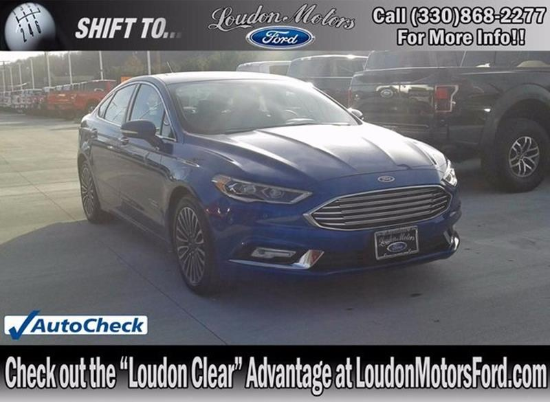 Ford fusion energi for sale for Loudon motors ford minerva