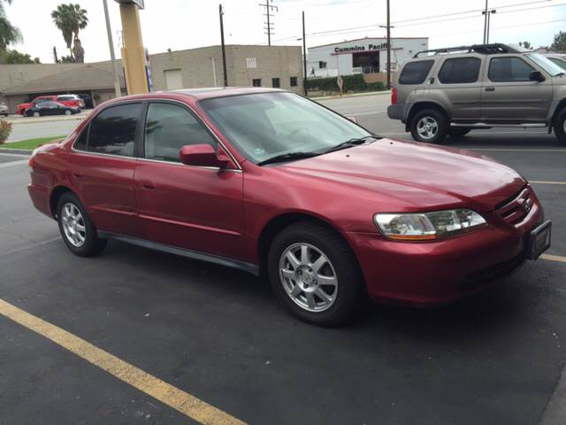 2002 HONDA ACCORD EX 4DR SEDAN burgundy vehicle recently serviced  smoged warranty 6 months60