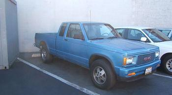 1991 GMC SONOMA CLUB COUPE 4WD blue vehicle recently serviced  smoged warranty 6 months6000 mi