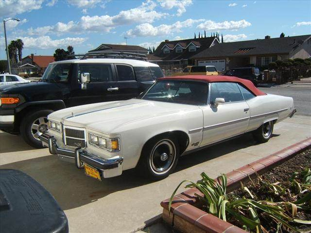 1975 PONTIAC GRANDVILLE white pontiac grandville convertible whiteburgundy 3-speed at 456 v8