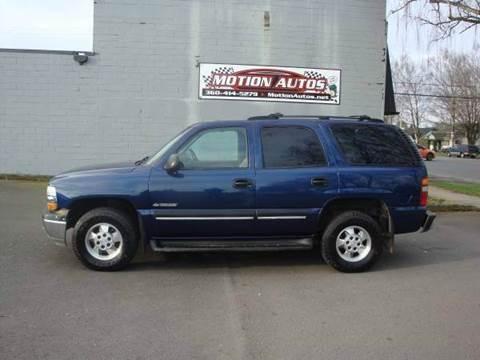 2001 Chevrolet Tahoe For Sale In Longview WA