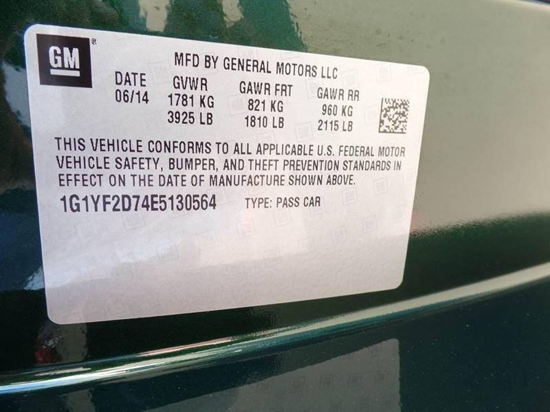 2014 Chevrolet Corvette Stingray 2dr Coupe w/3LT - Longview TX
