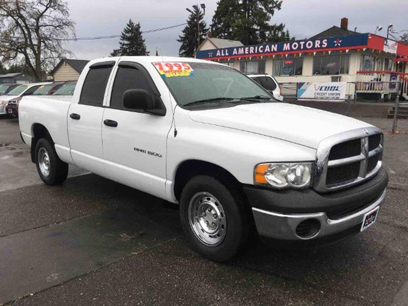used dodge trucks for sale in tacoma wa