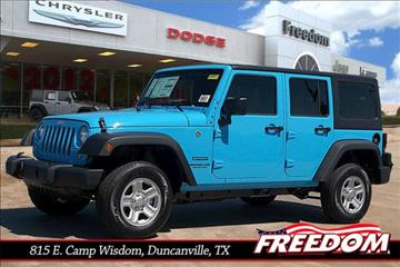2017 Jeep Wrangler Unlimited for sale in Duncanville, TX