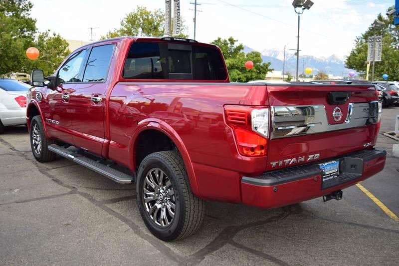 2016 nissan titan xd platinum reserve 4x4 4dr crew cab pickup diesel in salt lake city ut. Black Bedroom Furniture Sets. Home Design Ideas