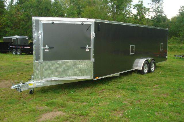 2015 Lightning Aluminum 29 Ft Enclosed Snowmobile Trailer, 4 Place