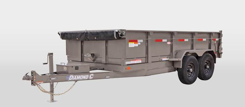 2016 Diamond C 14 Foot Dump Trailer