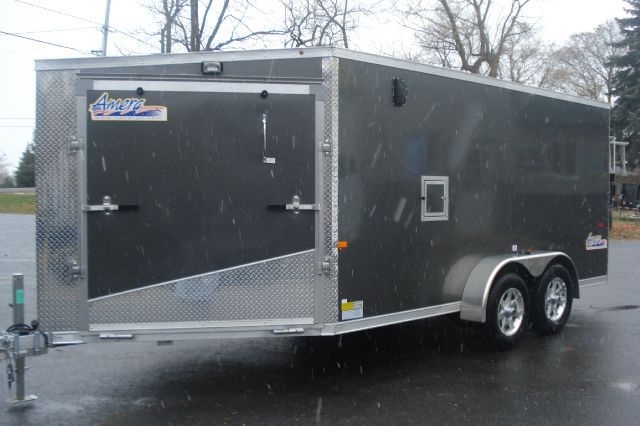 2014 Amera-Lite 7x19 Enclosed Aluminum Snowmobile Trailer, 2 Place