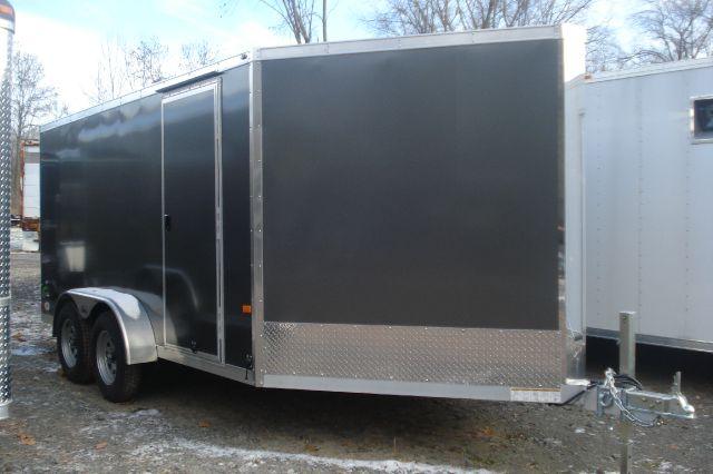 2014 Neo 7x18 Flat-Top, V-Nose Snowmobile Trailer, 2 Place