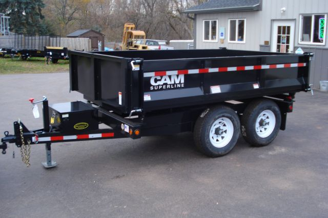 2014 Cam Superline 6x10 3-Way Deckover Dump Trailer, 10K