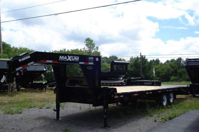 2015 Maxum 7 Ton, 25 Ft  Deckover Gooseneck Equipment Trailer