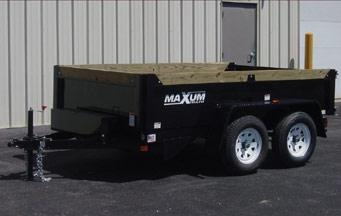 2014 Maxum 6x10 Dump Trailer, Low Profile, 4 Ton