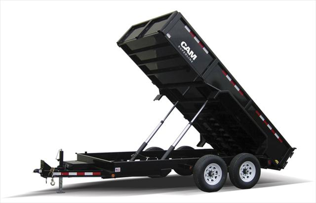 2014 Cam Superline 7x14 Heavy Duty Dump Trailer, Low Profile, 14K