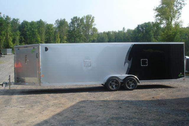 2015 Neo 7x28 Flat-Top, V-Nose Snowmobile Trailer, 4 Place