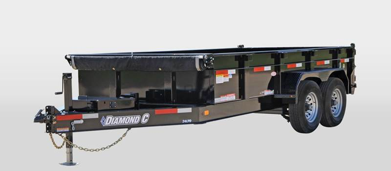 2016 Diamond C 16 Foot Dump Trailer