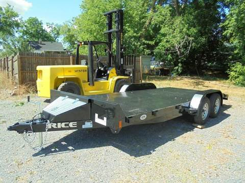 2016 Rice Trailers 18' STEEL DECK FLATBED