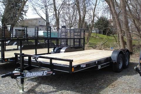 2016 Diamond C 18 ft Wood Deck Car Hauler -RC