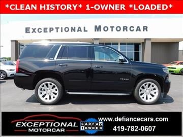 2015 Chevrolet Tahoe for sale in Defiance, OH