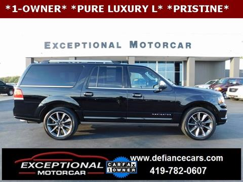 2016 Lincoln Navigator L for sale in Defiance, OH