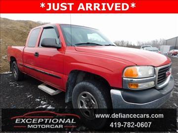 2001 GMC Sierra 1500 for sale in Defiance, OH